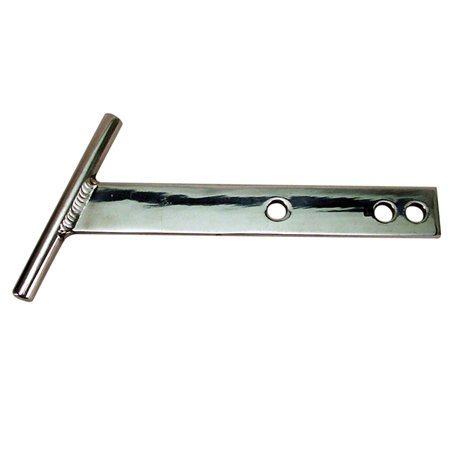 POLISHED ALUMINUM T-BARS, THRU 67. PAIR
