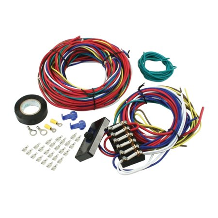 vw bug buggy universal wire harness w/fuse box