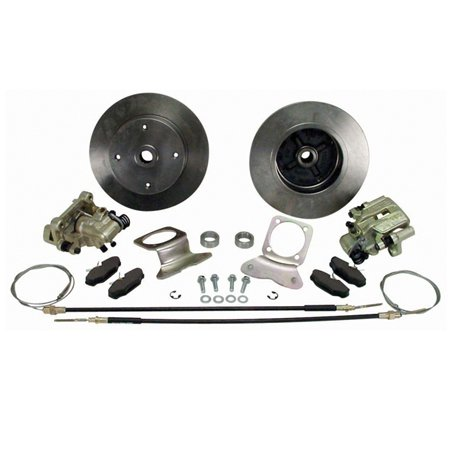 VW BEETLE Rear Disc Brake Kit, 4/130, w/ E-Brake