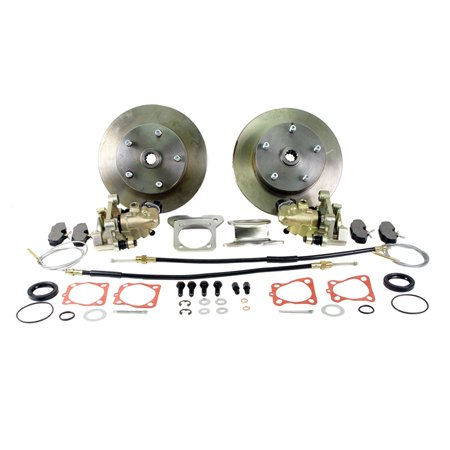 VW BEETLE Rear Disc Brake Kit, 5 x 130mm Porsche, w/ E-Brake, to