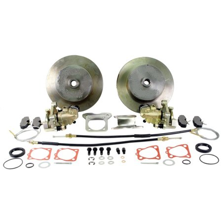 VW BEETLE Rear Disc Brake Kit, BLANK ROTORS, w/ E-Brake