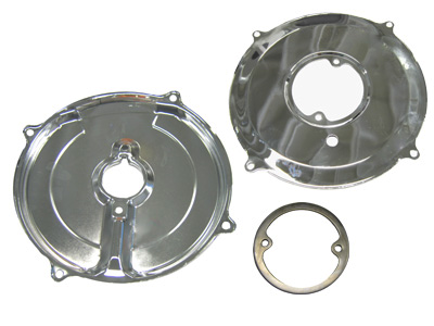 Alternator/Generator Backing Plate CHROME 3PC KIT