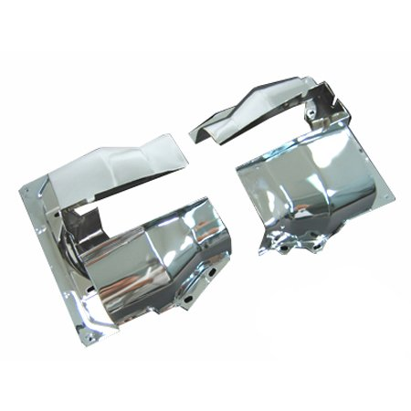 VW Cylinder Shrouds, Dual Port, Chrome, Pair
