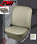 TMI VW Seat Upholstery, 1966-68 Bug, Front & Rear, Basketweave Vinyl Off White