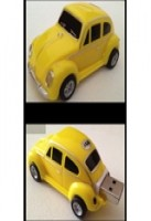 VW Beetle Car USB Memory Stick Flash Drive 4Gb  Yellow