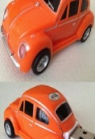 VW Beetle Car USB Memory Stick Flash Drive 4Gb  Orange