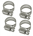 "Hose Clamps - fits 3/8"" & 1/2"" pack of 4"