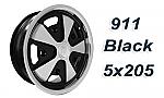 911 Porsche Fuchs style alloys Polished w/Black 5x205