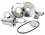 Alternator conversion kit 55 amp, bug ghia etc All Chrome kit