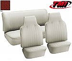 TMI VW Seat Upholstery, 1969-70 Bug, Front & rear, Basketweave Vinyl RED