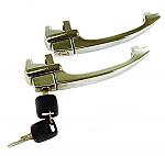 Door handle set keyed alike bug 60-64  Pair