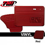 TMI OEM Classic Door Panels Bug 67-68 w/pockets Red