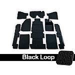 TMI Carpet Kit 10pc Super Bug 71-74 RHD with Binding, w/footrest, Black Loop