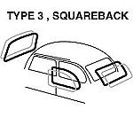 VW Type 3, Squareback CAL RUBBER KIT , 4 PC