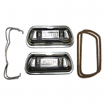 Valve Covers, Clip-On, Stainless Steel with Bails