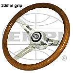 Classic Wood Steering Wheel 23 mm grip with Boss Kit Bug & Ghia  Type 2 & Type 3