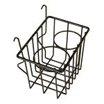 Vw Bus Black Storage Wire Basket - All Type 2 Bus 1955 Thru 1967