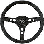 "GT Sport Thick foam Steering Wheel 13"" Black spoke"