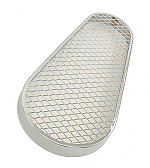Pulley guard mesh screen Chrome