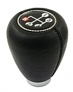 Shift knob black vinyl w/ 4 speed shift pattern
