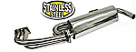 """Stainless Steel merged Exhaust system 1 1/2"""" Dia pipes fits T2 & T4"""