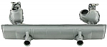 Muffler street oem style Bus type 2 1500-1600 painted Europe