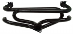 """Exhaust header street 1 3/8"""" dia pipes premium style painted flanged"""