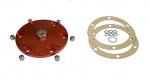 Alluminium Billet Oil Sump Plate with magnetic drain plug RED