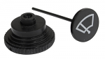 WIPER SWITCH KNOB, With Plunger, Beetle & Ghia 68-79