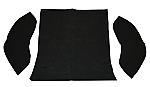 carpet kit 3 piece bug 58-64 rear compartment black loop