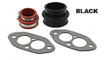 Dual port Manifold boot install kit BLACK