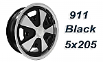 911 Porsche Fuchs style alloys Polished w/Black 5x205
