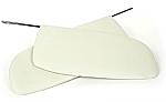 SUN VISORS, 58-64, WHITE