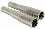 Tapered Baffled Exhaust Tip PAIR