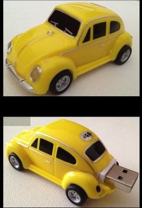 VW Beetle Car USB Memory Stick Flash Drive 4Gb  Yellow
