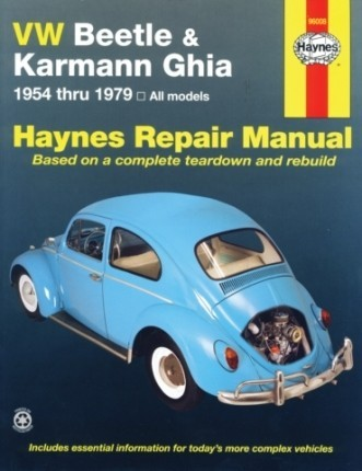 VW Repair Book Haynes Bug & Ghia