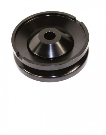 Alternator or generator pulley 12V Billet black 2 piece