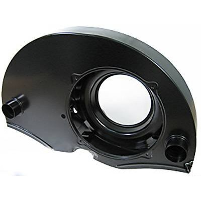 Fan shroud doghouse style w/ ducts 36 hp shape painted black