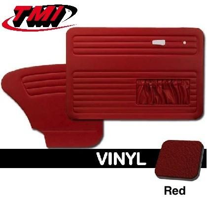 TMI OEM Classic Door Panels Bug 69-78 w/pockets Red