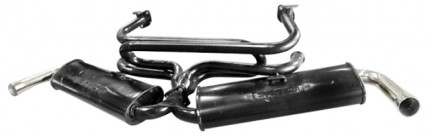 "Dual Quite Exhaust System 1 3/8"" Bug & Ghia"