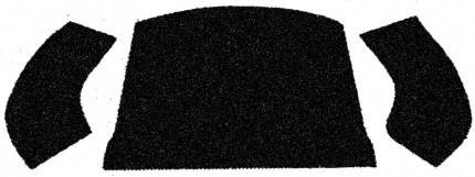 carpet kit 3 piece bug convertible 56-72 rear compartment black loop