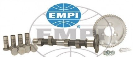 VW camshaft kits includes a camshaft, lifters, cam gear, bolts & lube.
