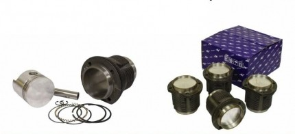 Piston & Cylinder Set. 87mm x 69mm Stroke, 1641cc Big Bore Slip-in
