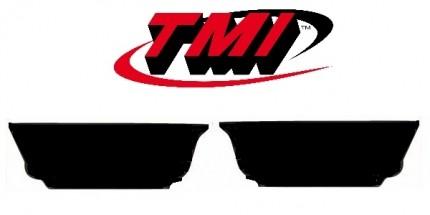 TMI Vw Beetle Rear kick panels 55-65  smooth black PAIR