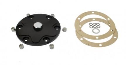 Alluminium Billet Oil Sump Plate with magnetic drain plug BLACK