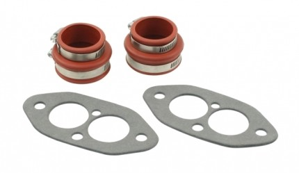 Dual port Manifold boot install kit RED