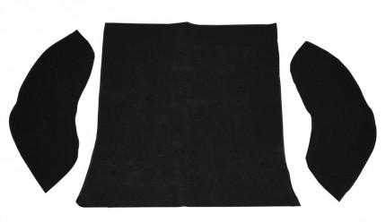 carpet kit 3 piece bug 58-64 rear compartment black loop