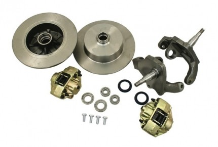 """Front Disc Brake Kit, Ball Joint, Blank Rotors with 2.5"""" Drop"""