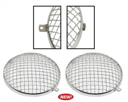 Stainless Steel Headlight Stone Guard Type 1, 2 & 3 PAIR
