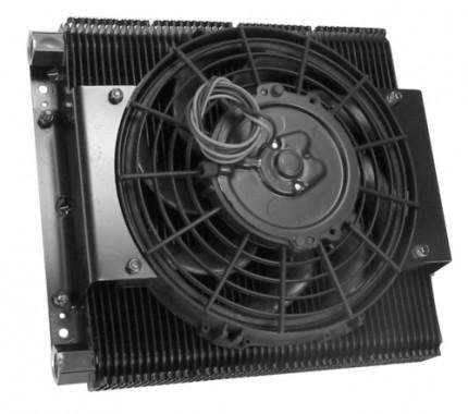 Competition Oil cooler & fan kit 96 plate cooler w/ fan
